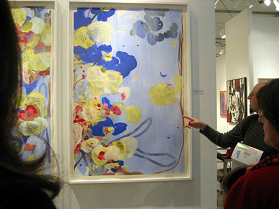 [Image: Yours truly admiring a Jasmina Danowski at Art Miami, December 2, 2011, photo by Joanne Mattera]