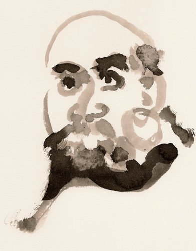 [Image: Bodhidharma, December 19, 2011, ink on paper]