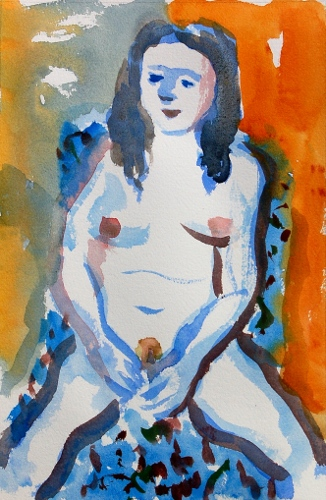 [Image: Katie 1, October 2011, watercolor, 11 1/8 x 7 1/2 inches]