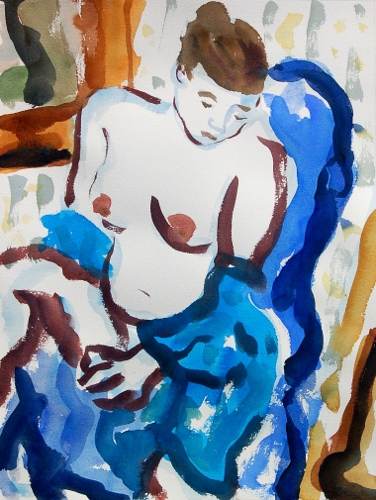 [Image: Katie 2, October 2011, watercolor, 17 x 13 inches]