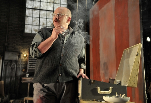 [Image: Thomas Derrah in the role of Mark Rothko in the SpeakEasy Stage's production of RED, Craig Bailey/Perspective Photo]