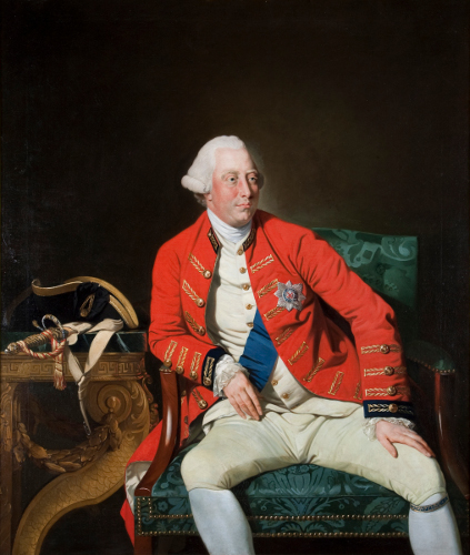 [Image: Johann Zoffany, George III, 1771, oil on canvas, The Zetland Collection]
