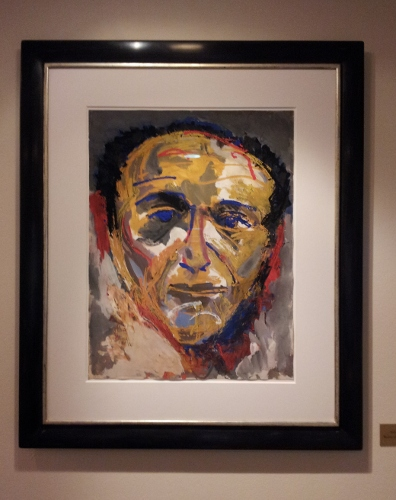 [Image: Karel Appel self-portrait at the Ambassade]
