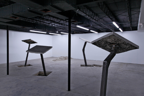 [Image: Ruben Ochoa, Cores and Cutouts (installation view), Locust Projects, November 2011]