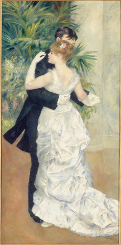 [Image: Pierre-Auguste Renoir, Dance in the City, 1883, oil on canvas, 70 7/8 x 35 1⁄2 inches, Musée d'Orsay, Paris; photo: Réunion des Musées Nationaux/Art Resource, NY]