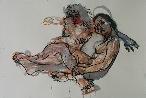 [Image: Drawing by Kerry Smith, March 17, 2012, ink and pastel on Arches paper, 24 x 36 inches]