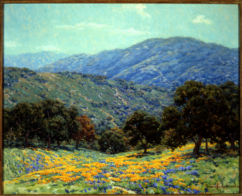 [Image: Granville Redmond (1871 - 1935), Flowers Under the Oaks, oil on canvas, Private Collection, Courtesy of The Irvine Museum]