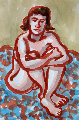 [Image: Lucy 2, July 9, 2012, watercolor, 12 1/2 x 8 1/2 inches]