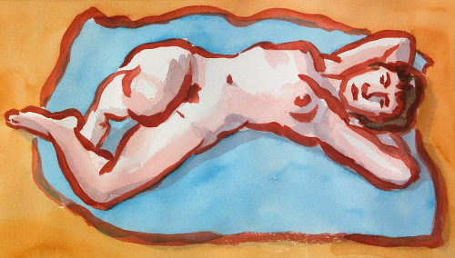 [Image: Lucy 3, July 9, 2012, watercolor, 10 x 16 1/2 inches]
