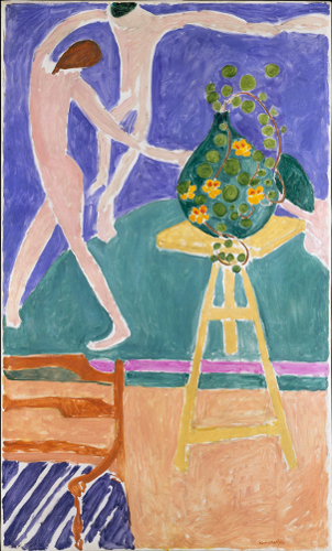 "[Image: Henri Matisse, Nasturtiums with the Painting ""Dance"" I, 1912, oil on canvas, 75.5 x 45 inches, The Metropolitan Museum of Art, New York, © Succession H. Matisse/BilledKunst Copydan 2012]"