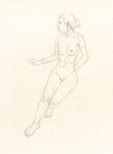 [Image: Natalia, November 8, 2012, pencil, 11 x 8 inches]