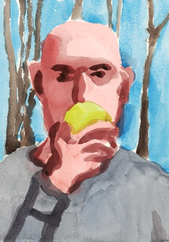 [Image: Winter Apple, 2013, watercolor, 12 1/2 x 8 7/8 inches]