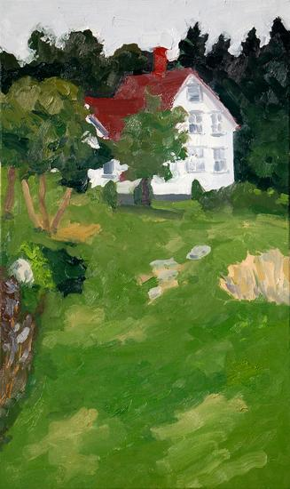 [Image: Heliker House, 2011, oil on canvas, 36 x 22 inches]