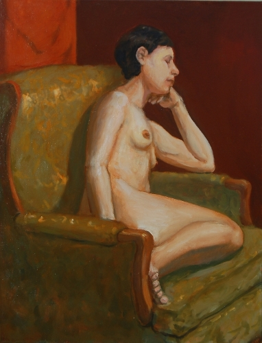 [Image: Repose, 2013, 28 x 24 inches, oil on linen]