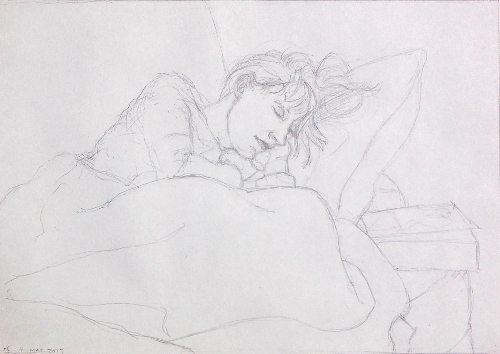 [Image: Study for Epic in Softcover, 8 3/4 x 12 inches, pencil on paper]