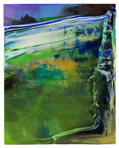 [Image: James Walsh, Greenscape, 2014, acrylic on canvas, 30 x 24 inches, courtesy of Berry Campbell]