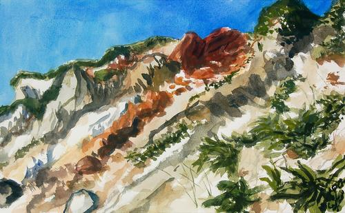 [Image: Aquinnah, June 24, 2014, watercolor on paper, 11 3/4 x 19 inches]