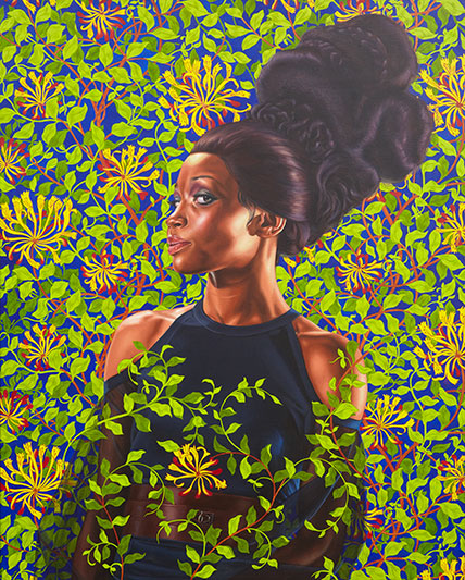 [Image: Kehinde Wiley, Shantavia Beale II, 2012, oil on canvas, 60 x 48 inches, collection of Ana and Lenny Gravier, © Kehinde Wiley (Photo: Jason Wyche, courtesy of Sean Kelly, New York) ]