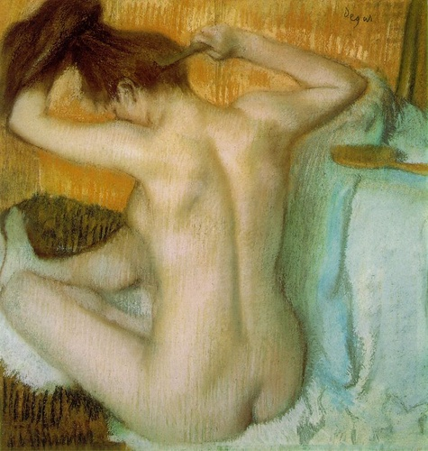 [Image: Degas, Woman Combing Her Hair]