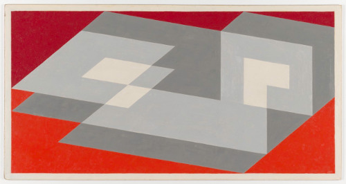 [Image: Josef Albers, Tenayuca, 1943, oil on Masonite, 22 ½ x 43 ½ inches. San Francisco Museum of Modern Art, Purchase with the aid of funds from Mr. and Mrs. Richard N. Holdman and Madeleine Haas Russel. © The Josef and Anni Albers Foundation/Artists Rights Society]