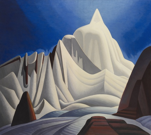 [Image: Lawren Harris, Mountains in Snow: Rocky Mountain Paintings VII, about 1929, Art Gallery of Ontario]