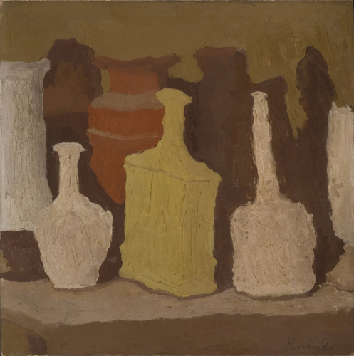 [Image: Giorgio Morandi, Still Life, 1931, Oil on canvas, 42 x 42 cm, 16 1/2 x 16 1/2 in. Private collection. © 2015 Artists Rights Society (ARS), New York / SIAE Rome ]
