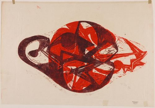 "[Image: Hann Trier, Variation of Forms I/V, from ""6 Color Woodcuts,"" 1950, courtesy of the Harvard Art Museums]"