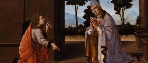 [Image: Leonardo da Vinci and Lorenzo di Credi, A Miracle of Saint Donatus of Arezzo, ca. 1475–85, oil on panel, Worcester Art Museum, Massachusetts]