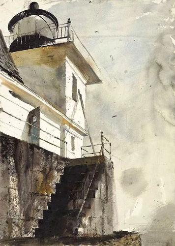 [Image: Andrew Wyeth, Rockland Light, 1961, watercolor on paper, the Andrew and Betsy Wyeth Collection]