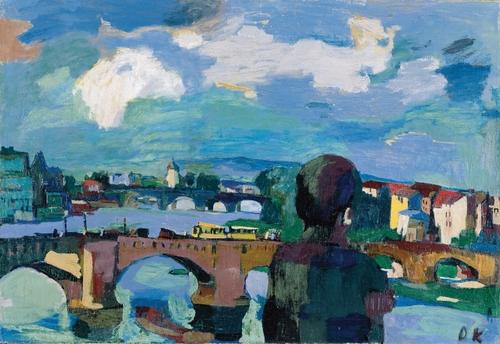 [Image: Oskar Kokoschka, Dresden, Augustus Bridge with Figure from Behind, 1923, oil on canvas, Oskar Kokoschka Foundation]