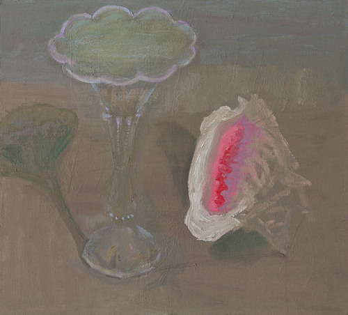 [Image: Gwen Strahle, Shell and Vase, 2018, oil on canvas, 17 x 19 inches]