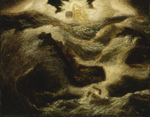[Image: Albert Pinkham Ryder, Jonah, ca. 1885-1895, oil on canvas mounted on fiberboard, Smithsonian American Art Museum, photo courtesy of the New Bedford Whaling Museum]