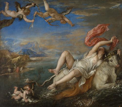 [Image: Titian, The Rape of Europa, 1560-62. Photo: Isabella Stewart Gardner Museum]